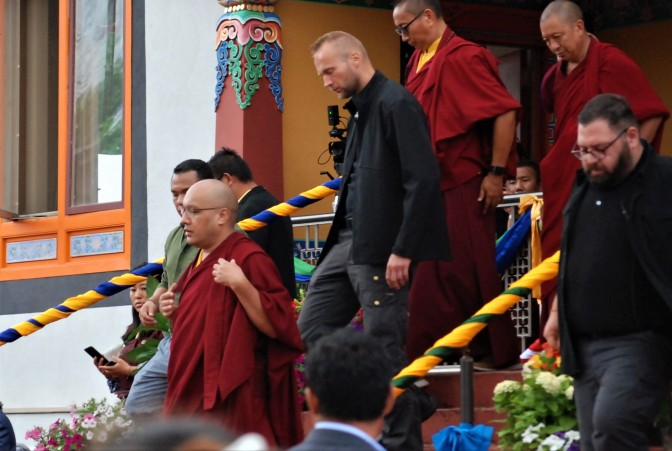 The 17th karmapa 33rd birthday celebration.Photographs.